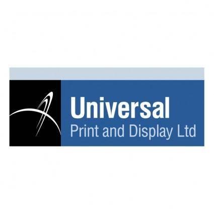 Universal print display