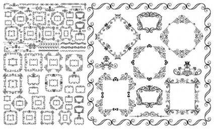 Europeanstyle lace vector