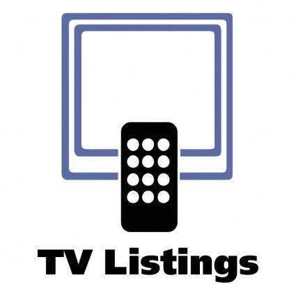 free vector Tv listings