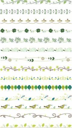 free vector Practical plant lace border vector