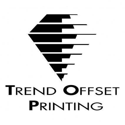 free vector Trend offset printing