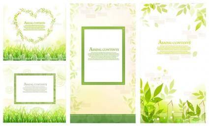 free vector Fresh green lace vector