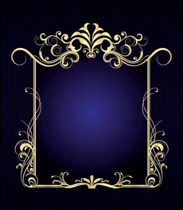 free vector European gorgeous frame 01 vector