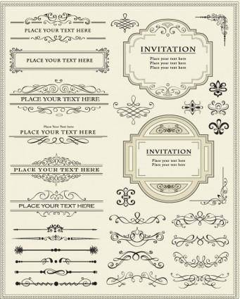 Europeanstyle lace border 01 vector 6270