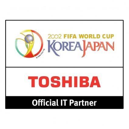 free vector Toshiba 2002 fifa world cup