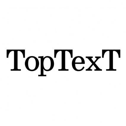 free vector Toptext