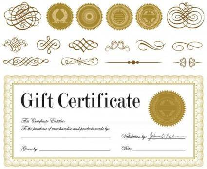 free vector Certificate and badge jewelry box 01 vector