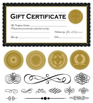free vector Certificate and badge jewelry box 04 vector