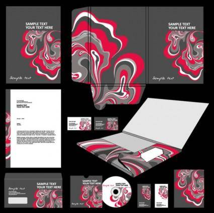 The trend of packaging cover design 04 vector
