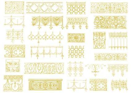 free vector Europeanstyle lace vector