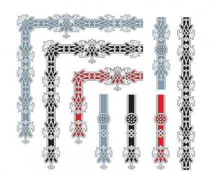 free vector Beautiful lace 01 vector