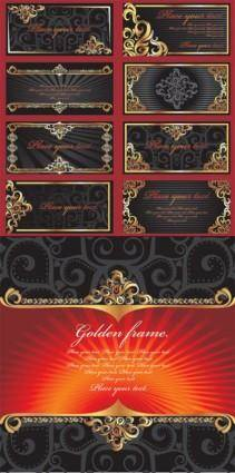 Vector gold ornate lace