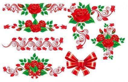 free vector The beautiful rose lace vector