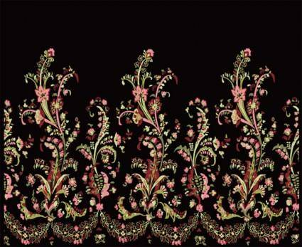 free vector National style bouquet lace vector