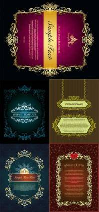 free vector European classical decorative box vector