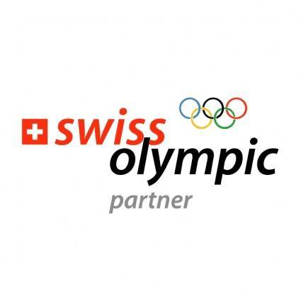 free vector Swiss olympic partner