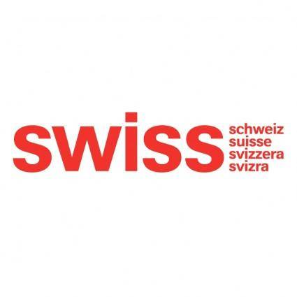 free vector Swiss air lines