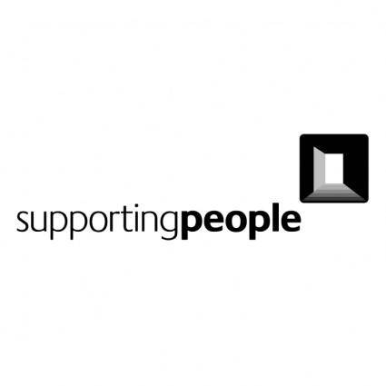 free vector Supporting people