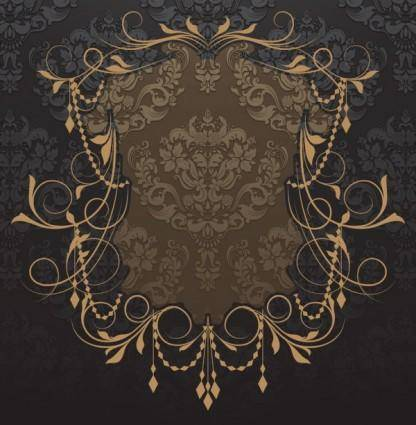 Nostalgia shading lace 03 vector