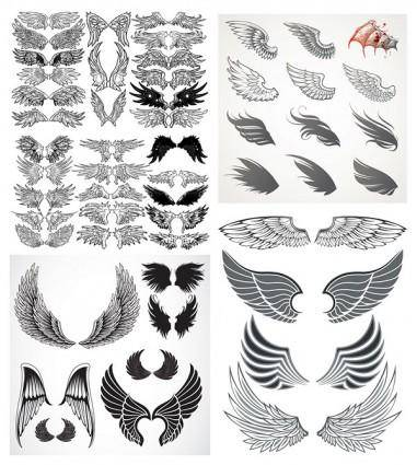 free vector Totem variety of wings vector