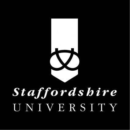 free vector Staffordshire university 0