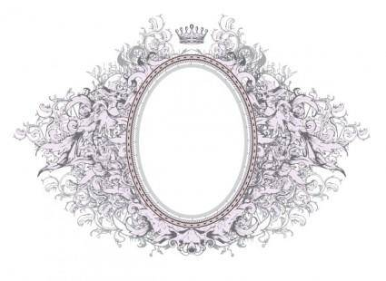 free vector European gorgeous photo frame vector