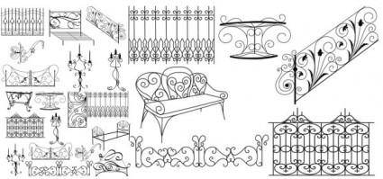 Metal objects clip art