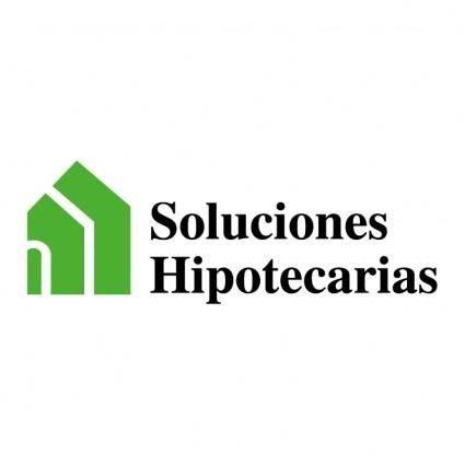 free vector Soluciones hipotecarias
