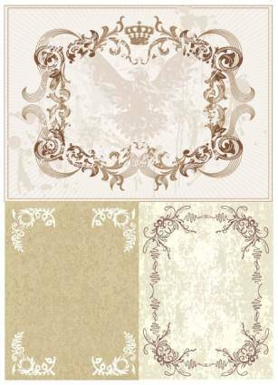 European classic lace vector