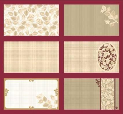 Elegant card template vector roses theme
