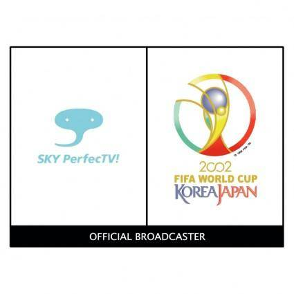 free vector Sky perfectv 2002 world cup sponsor