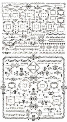 free vector Classical traditional decorative elements vector