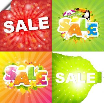 free vector Summer deals posters 04 vector