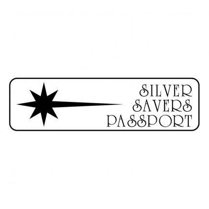 free vector Silver savers passport