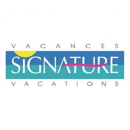 free vector Signature