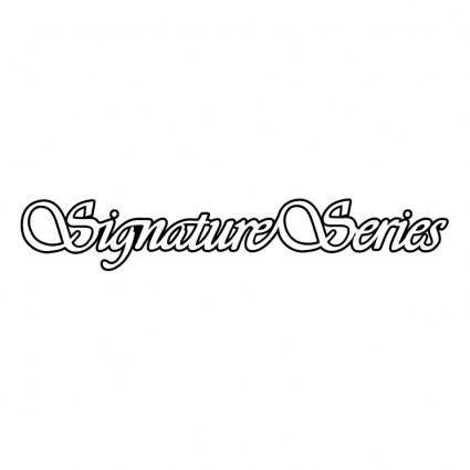 free vector Signature series