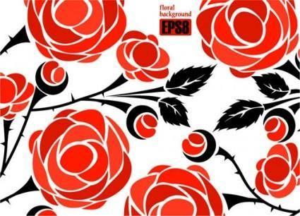 Roses vector 3