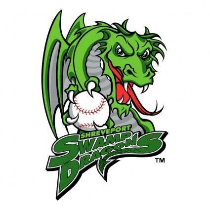 free vector Shreveport swamp dragons 0