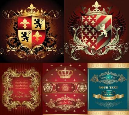 free vector European gorgeous element vector
