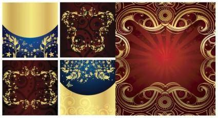 free vector Golden element vector