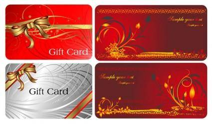 2 beautiful and practical gift card vector