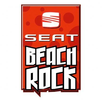 Seat beach rock