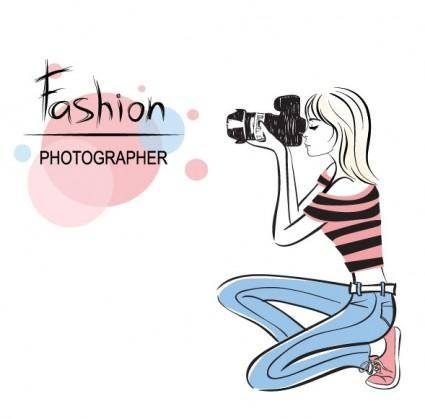 Fashion beauty illustrator 01 vector