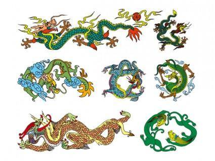 free vector Chinese classical dragon vector of the ten