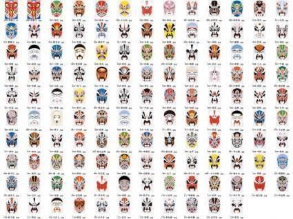 Peking opera vector 127 models