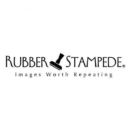 free vector Rubber stampede