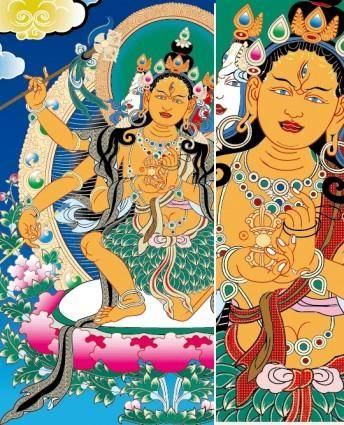 free vector Thangka mother leaves clothes vector