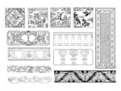 free vector China twentyfive classical vector