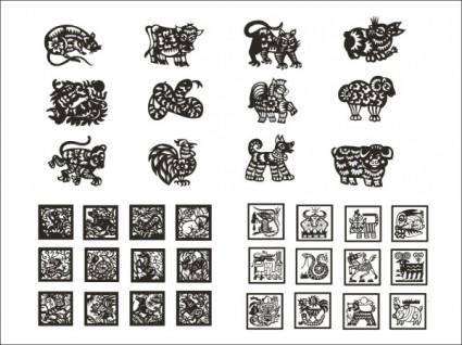 free vector Zodiac of paper cutting vector iv