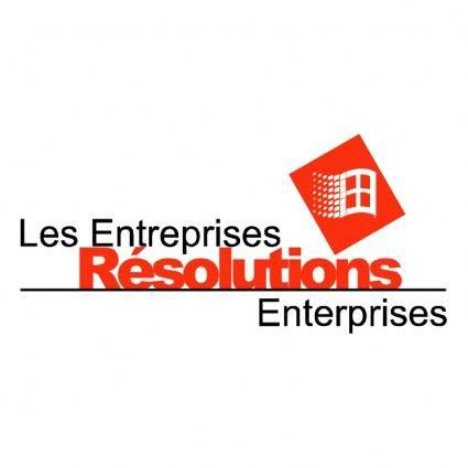 Resolutions enterprises